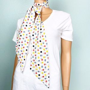 vintage polka dot SCARF neck wrap
